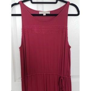 Loft Maxi Dress with Drawstring